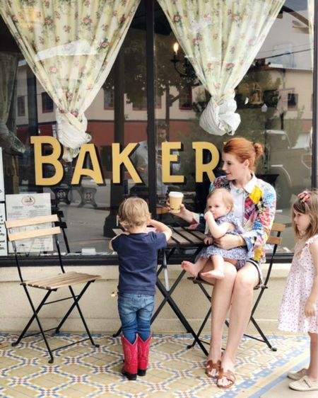 """Snuck away to the desert for some quality time with the kids and today we are """"in town"""" (an hour from @thelocalchapter). How romantic is this little bakery? They sell out of their fresh bread daily- we just missed the last loaf! Swipe up to stories to see more of our vacay @liketoknow.it http://liketk.it/2F46N #liketkit"""