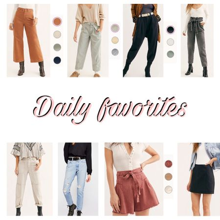 http://liketk.it/2MlYM #liketkit @liketoknow.it #LTKspring #LTKsalealert #LTKunder50  Free people, pants, skirt, shorts, high waisted, pastel, balloon pant, denim, spring, wide leg, distressed denim