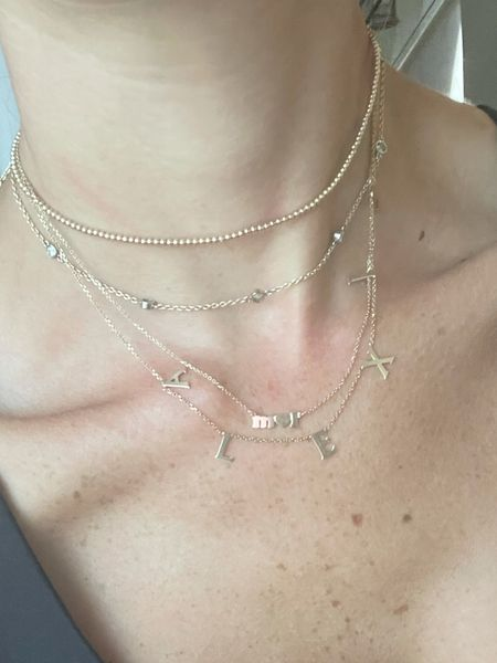 Gold layered necklaces  use code Alexis15 for name   #LTKunder50 #LTKunder100
