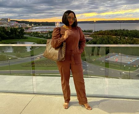 Utility jumpsuit in the perfect brown for my fall wardrobe. 🍂🍁  #LTKGiftGuide #LTKunder50 #LTKSeasonal