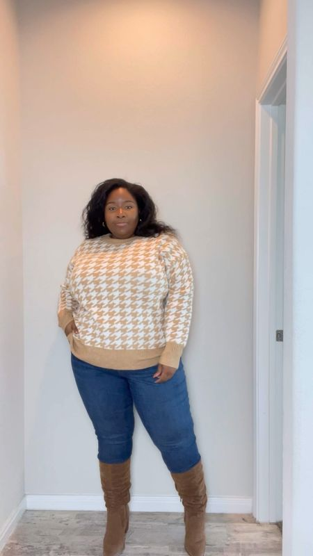Target fall outfits, plus size Target finds, Target style, plus size sweaters, plus size sweater dress, wide calf boots, plus size jeans, plus size fall outfits, ltk video  #LTKunder50 #LTKcurves #LTKstyletip