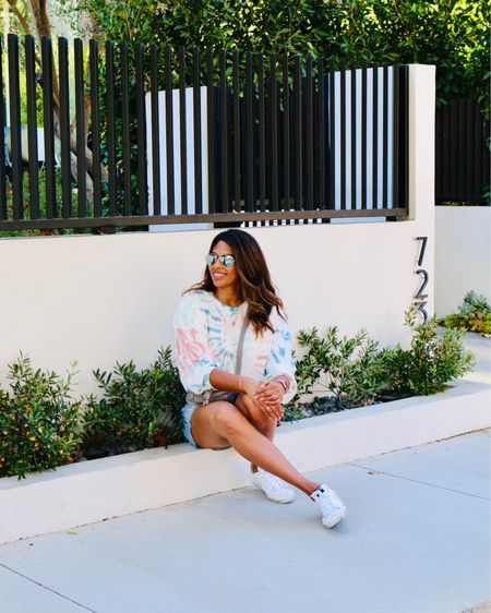 Tie dye + cut offs + white sneakers = summer! http://liketk.it/2Ue3y #liketkit @liketoknow.it Shop your screenshot of this pic with the LIKEtoKNOW.it shopping app