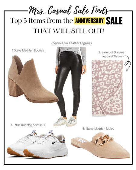 Top 5 most popular items from the Nordstrom sale 🙌🏻 leopard sneakers, barefoot dream, booties and spanx  #LTKunder100 #LTKunder50 #LTKsalealert