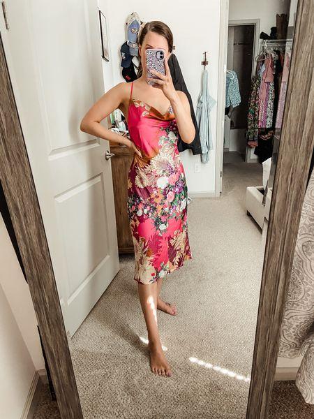 Red dress boutique // game day // game day outfit // travel outfit // fall dress // fall florals // boutique finds // dresses under $100 // wedding guest dress   #LTKwedding #LTKstyletip #LTKunder100