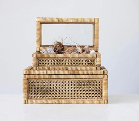 Restock alert! The cane boxes are beautiful and great for built ins!