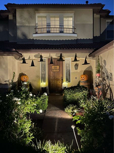 Decorate this year for Halloween! So easy to grab some witch hats, pumpkins and a few scary spiders! Happy Haunting!   #LTKfamily #LTKSeasonal #LTKhome