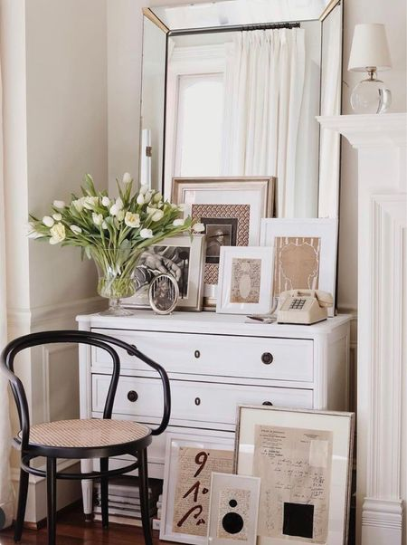 The cozy corner with a chic cane chair  #LTKhome #LTKHoliday