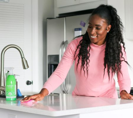 Serious question... over the last few months, do you find yourself cleaning your kitchen more than ever?!?   No lie, I clean my kitchen 3 times a day and I am over it!! 😂😂😂. Luckily I love using @methodproducts to help keep up a clean kitchen. I've been using them heavily this year and I am a huge fan! From the surface cleaners, dish soaps, cleaning wipes... I don't play! I also love the sleek packaging and it's just another special touch to compliment my space (don't judge me😂). My absolute favorite product right now is the Bamboo Antibacterial All-Purpose Cleaner. It smells so good while killing germs.   Have you tried @methodproducts ? What's your favorite?   #LTKunder50 #StayHomeWithLTK #LTKhome