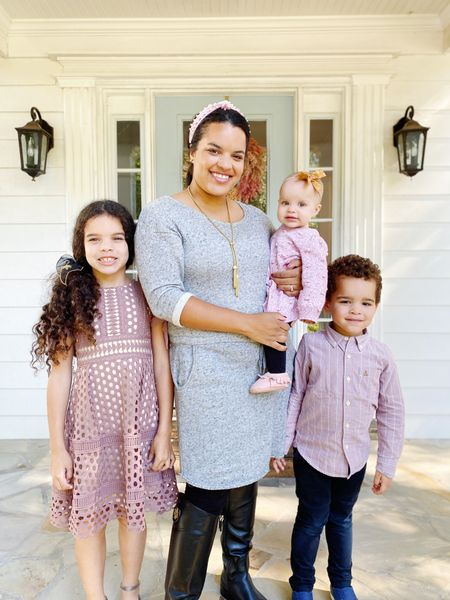 Sunday best, family photos, matching family outfits, Christmas card photo outfits, modest dresses, modest fashion  #LTKhome #LTKkids #LTKfamily