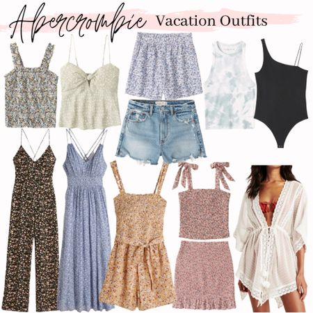 Abercrombie, summer outfits, summer outfits, summer fashion, vacation outfit, summer style, beach vacation #abercrombie #springoutfit #summerstyle #summeroutfit #summeroutits #beachvacation #bodysuit #vacationoutfit #vacationstyle #vacationoutfits #tanktop #coverup #jumpsuit #maxidress #romper #momshorts #pullonshorts #matchingset #skirt  #LTKSale #LTKunder100 #LTKunder50