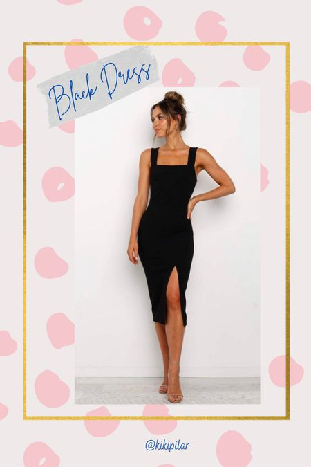 The perfect black dress doesn't ex- RESTOCK ALERT ‼️ I wear a size 4 on this website // graduation dress // wedding guest dress // date night   #LTKwedding #LTKunder100