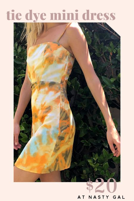 This tie-dye mini dress is on sale for 60% off at Nasty Gal today only! Hurry and shop the last of the LTK day sale.   http://liketk.it/2QuVl @liketoknow.it #liketkit #LTKspring #LTKunder50 #LTKDay   Summer outfit  Summer look Beach outfit  Night out outfit