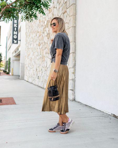 Sharing this skirt/sneaker/bag combo that I'm loving over on the blog www.Mystylediaries.com    #LTKitbag #LTKshoecrush #LTKunder50