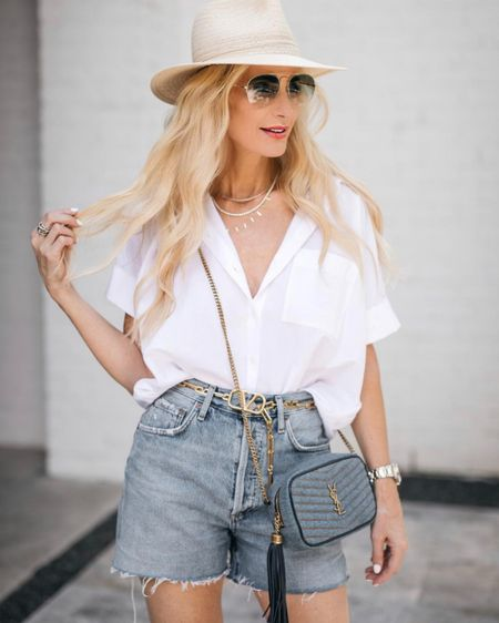 The most flattering jeans shorts ever! I love these. They run tts I'm wearing a 25 http://liketk.it/3gKwx @liketoknow.it #liketkit #LTKstyletip #LTKunder100 Shop my daily looks by following me on the LIKEtoKNOW.it shopping app #LTKunder50 http://liketk.it/3hboQ