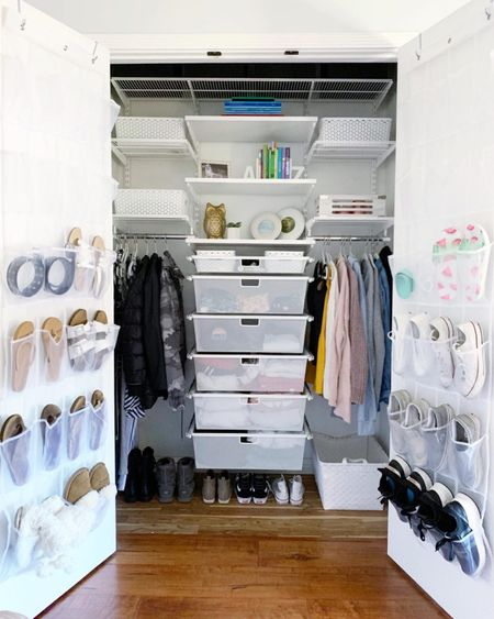 The beauty of an Elfa system, especially when placed in a child's closet, is its flexibility and adaptability over time. It will grow with your child or in any space it's added. Love its functionality! It's also on SALE right now!! || #elfa #elfasystems #closet #closetorganization   #LTKhome