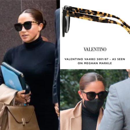Meghan wearing Valentino sunglasses #designer #look #beauty #glam #business #city