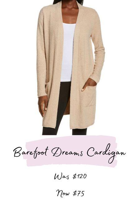 NSale barefoot dreams long cardigan restocked in multiple sizes!   #LTKstyletip #LTKsalealert #LTKunder100
