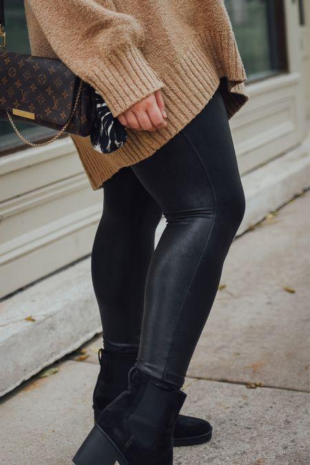 Plus size faux leather leggings for fall!   #LTKstyletip #LTKSeasonal #LTKcurves