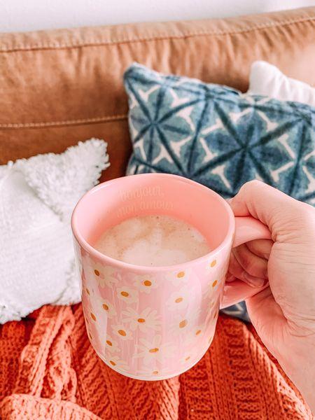 Cute pink flower mug, Opalhouse, target home, target finds  #LTKhome #LTKGiftGuide