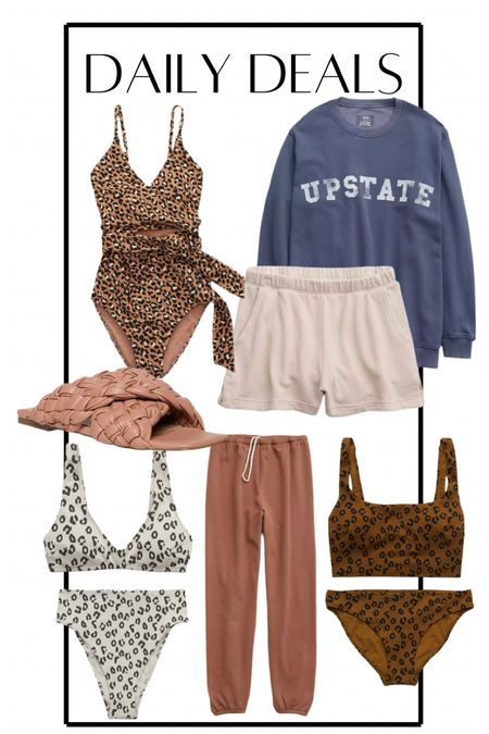 Daily deals! Aerie sale 30% off new arrivals! Love these new leopard swimsuits on sale. Also these Steve Madden braided sandals are on major sale! Oversized sweatshirt, loungewear, wfh, casual outfits   #LTKsalealert #LTKunder50