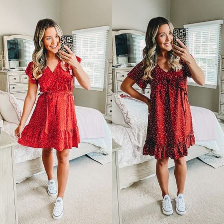 4th of July outfit ideas! 🇺🇸❤️🤍💙✨ casual dress options one loose and flowy and the other more fitted but both are so cute and comfy and come in tons of color options! And you can prime them!!! I love pairing dresses with these slip on white tennis shoes too!! http://liketk.it/3iBch #liketkit @liketoknow.it #LTKstyletip #LTKunder50