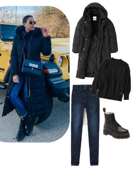Winter outfit Puffer Jacket Dr Martens Weatherproof boots Abercrombie   http://liketk.it/31wS7 #liketkit @liketoknow.it