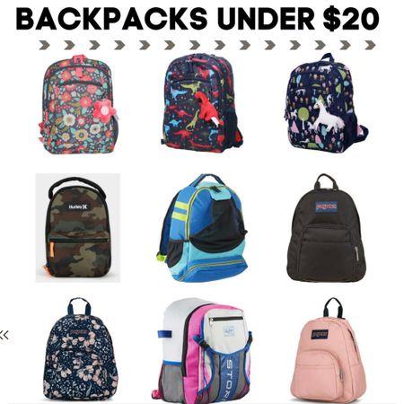 Kids back to school backpacks under $20 Check each item for promo codes to lower the price under $20. http://liketk.it/3jiqD   #LTKkids #LTKsalealert   #liketkit @liketoknow.it
