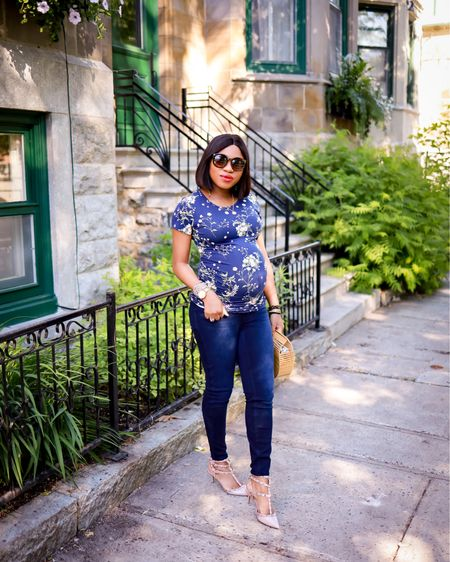 After months of searching, I finally found a pair of maternity jeans that are comfortable and fit! I sized up to a medium in these and I'm glad I did. Wearing a size S in the maternity top. Tagged my entire outfit for you.   #LTKstyletip #LTKbump #LTKbaby