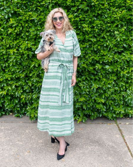 Happy Monday! Fiona and I are ready to face the week in style. BTW my wrap dress is now 40% off which makes it a steal. Especially since I have been wearing it a lot! http://liketk.it/3fZIQ #liketkit @liketoknow.it #LTKsalealert #LTKstyletip #LTKunder100