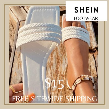 Minimalist braided strap sandals from Shein and free sitewide shipping today   http://liketk.it/3hZdy #liketkit @liketoknow.it #LTKunder50 #LTKshoecrush #LTKstyletip You can instantly shop my looks by following me on the LIKEtoKNOW.it shopping app