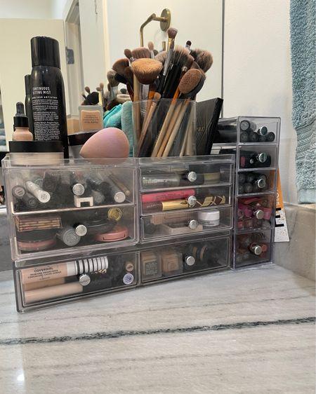 Clear makeup organizational drawers http://liketk.it/3ienG #liketkit @liketoknow.it #LTKbeauty #LTKunder50 #LTKhome