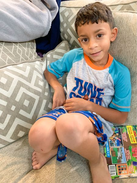Growing up my mom always made sure we had brand new pajamas the day before school starts. I have continued this on with my kiddos.   Space Jam Tune Squad Pajamas.  @walmart  #WalmartFashion #SpaceJam #BoyMom #TuneSquad #BacktoSchool #LTKbacktoschool #LTKkids