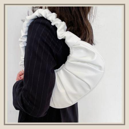 Ruched shoulder bag from Shein   #LTKitbag #LTKstyletip #LTKunder50