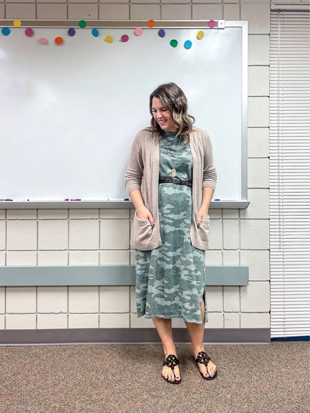 This camo dress is a few years old but I'm glad Target has brought it back again so y'all can snag it. You can wear it with a tee over top, a cardigan, or just by itself!     #LTKworkwear #LTKunder50