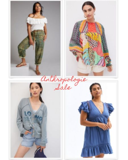 Hit the Anthropology Sale & get the best bits in the sale today!   #pilcrojeans #blouse #ruffledress #anthro     #LTKsalealert #LTKeurope