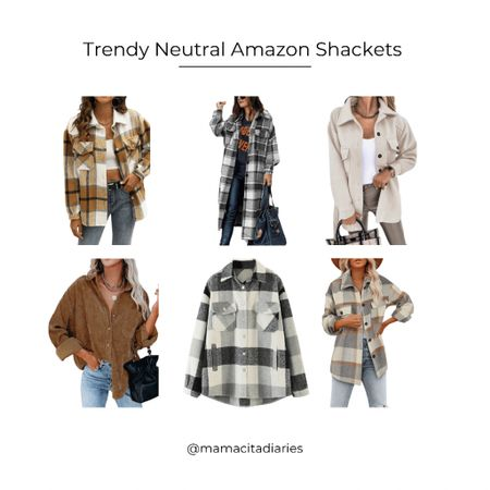 Fall shackets Neutral Shackets Amazon Fashion  #LTKbump #LTKstyletip