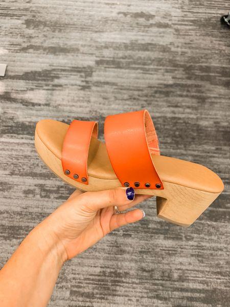 These clog wedges are so cute and currently on sale for under $30 🙌🏽.   #wedges #targetshoes #targetfinds #sandals   #LTKunder50 #LTKsalealert #LTKshoecrush