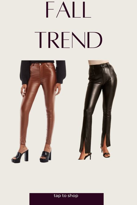 Vegan leather pants for Fall!