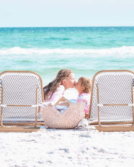 Framing this ASAP — especially to show them during the moments they're not so lovey dovey 💕💕😂 // Swimsuits are from 30A Mama, chairs are linked here @liketoknow.it  http://liketk.it/3h79M #liketkit #LTKkids #LTKtravel #LTKswim  grayton Beach / Seaside / family vacay