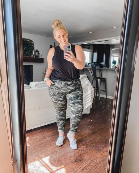 Walmart Wednesday in full force over here 🤣 so I got these camo jeggings for like $13 and I'm happy with them! They have awesome pockets and I feel like they fit pretty dang good for some $13 pants! I've been looking for a comfy camo pant so these are 👌🏼  - You can instantly shop all of my looks by following me on the @liketoknow.it shopping app #liketkit http://liketk.it/2WaYl   #StayHomeWithLTK #LTKcurves #LTKunder20