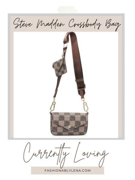 Steve Madden neutral crossbody bag. Available in black and white also   #LTKstyletip #LTKSeasonal #LTKunder100