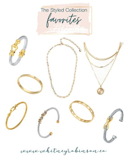 The Styled Collection is up to 45% off this weekend!! Please hold while I go stock up on all. the. things. http://liketk.it/3coGC @liketoknow.it #liketkit #LTKSpringSale #LTKstyletip #LTKsalealert   Gold bracelets  Bracelet Stacked bracelets Accessories  Mixed metal  Spring outfit  Summer outfit  Vacation outfit  Business casual  Summer fashion  Spring fashion