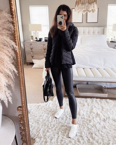 Size xsmall jacket. I'm wearing, size small spanx leggings- order 1 size up, I'm just shy of 5'7 for reference Nordstrom anniversary sale, Nsale, Nordstrom, fall outfit, StylinbyAylin #liketkit http://liketk.it/3kGNs  @liketoknow.it