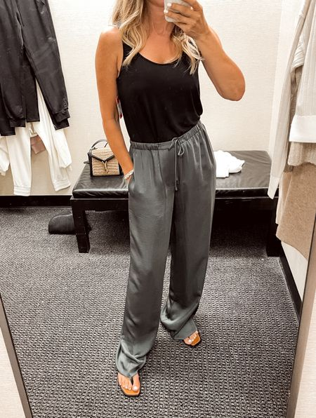NSale satin lounge pants, wearing a S, ordered a XS. Smooth chic top is a must have!   #LTKunder100 #LTKstyletip #LTKsalealert