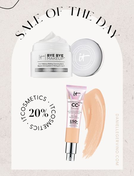 Itcosmetics 20% off best sellers. Use the makeup melt religiously (also great for the Gua Sha) and can't live without my cc cream! THE best 🙌🏼