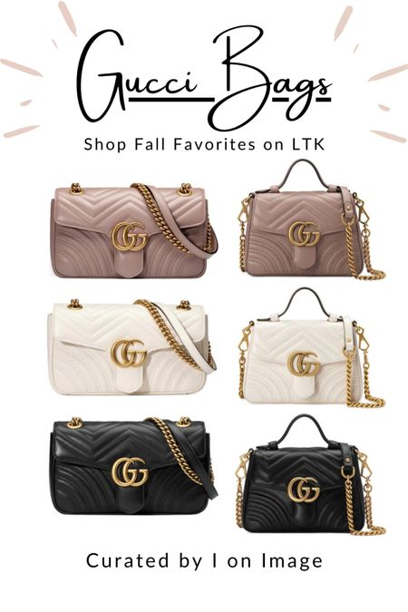 Insanely popular designer bag style: Gucci GG-logo Marmont small matelassé shoulder bag and mini top handle bag with chain strap 👜  Available in dusty pink, white and black -and MORE 💗🤍🖤  Chain bag, chic bag, stylish bag, ladylike bag, Gucci bag, designer bag, logo bag, structured bag, multiway bag, chevron bag, quilted bag, Gucci Marmont  #LTKeurope #LTKworkwear #LTKitbag