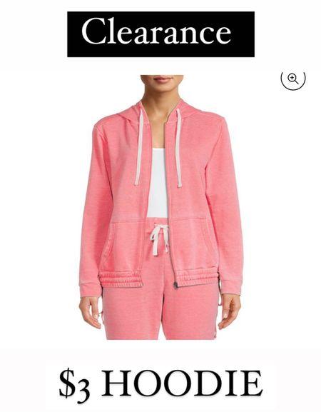 Walmart clearance - $3 hoodie!   #LTKstyletip #LTKfit #LTKsalealert