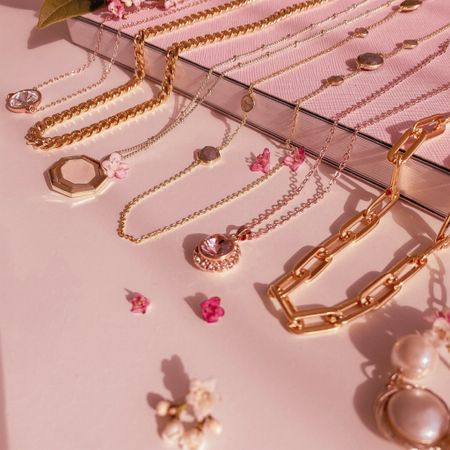 Layering necklaces is my new favourite thing!   Necklace - under 50 - jewellery - spring look - spring jewellery - gold chain - gold - rose gold - pendants - necklace - spring - summer - accessories    #LTKSpringSale #LTKSeasonal #LTKstyletip