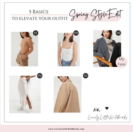 Spring Basics to elevate your outfit. Ribbed Knit. Square neck tanks. Bodysuits. Oversized Blazers. Slip skirts and dresses. Ecru and nude tones ✨ xo    #LTKworkwear #LTKSeasonal #LTKstyletip