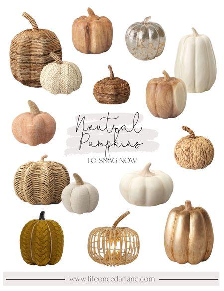 Loving all of Targets cute & neutral fall pumpkins this year!   #halloweendecor #pumkin  #LTKhome #LTKSeasonal #LTKunder50